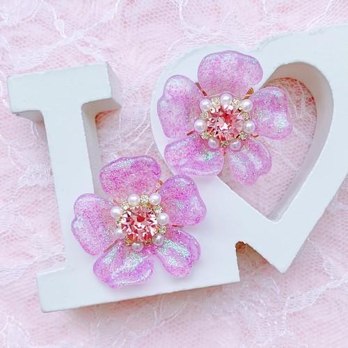 earrings【violet】〜YUKInoHANA〜