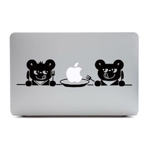 MacBook Air11インチ用背面デザインステッカー「2匹のくま」
