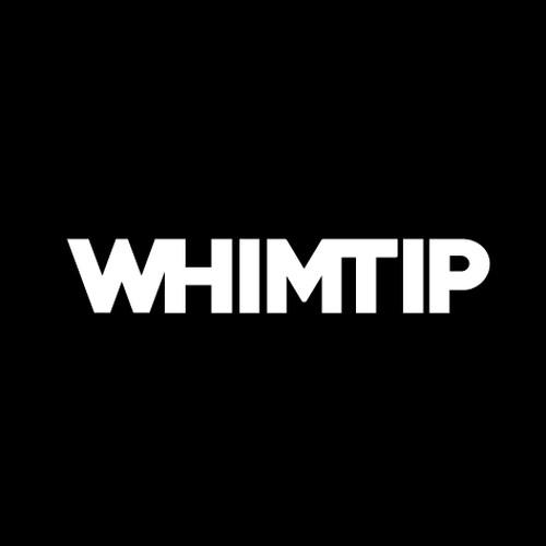 【WHIMTIP】LOGO STICKER wht