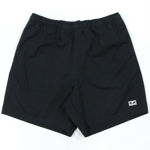 EASY RELAXED TWILL SHORT (BLACK)