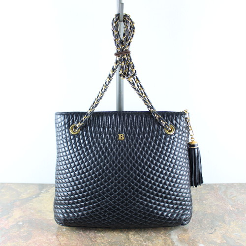 .BALLY QUILTING LEATHER CHAIN SHOULDER BAG MADE IN ITALY/バリーキルティングレザーチェーンショルダーバッグ2000000051222
