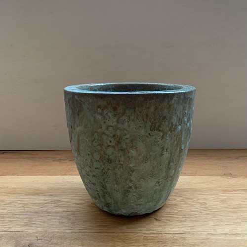 Ceramic Pot - green brown