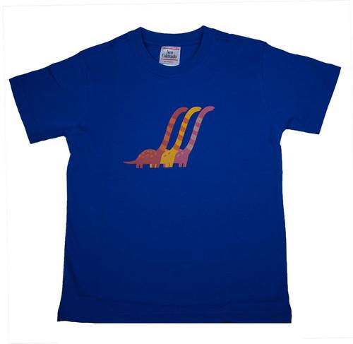 恐竜プリント子供用Tシャツ(ブラキオサウルス)KT-B