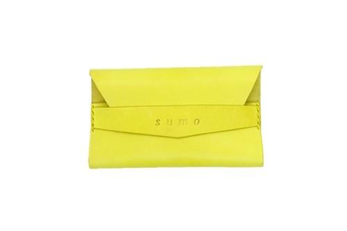 イタリアンレザー オリジナル名刺入れ Yellow