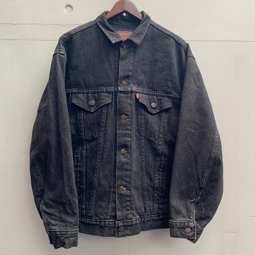 "80's ""Levi's"" 57510-0314 Black Denim Jacket"