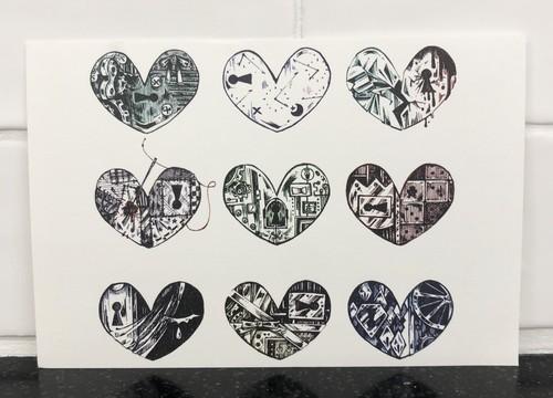 ポストカード「LOCKED HEARTS」