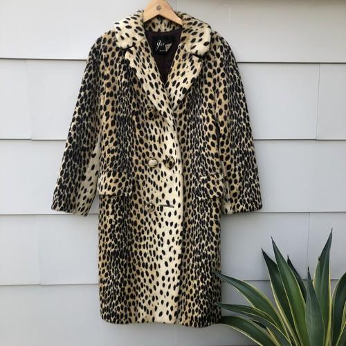 60s Safari Leopard Coat