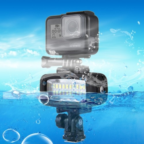 Puluz社  防水レベル IPx8対応 GoPro, DSLR, スマートフォン用LEDライト