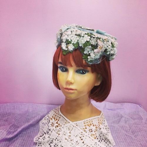 50s ヴィンテージ  小花のヘッドドレス