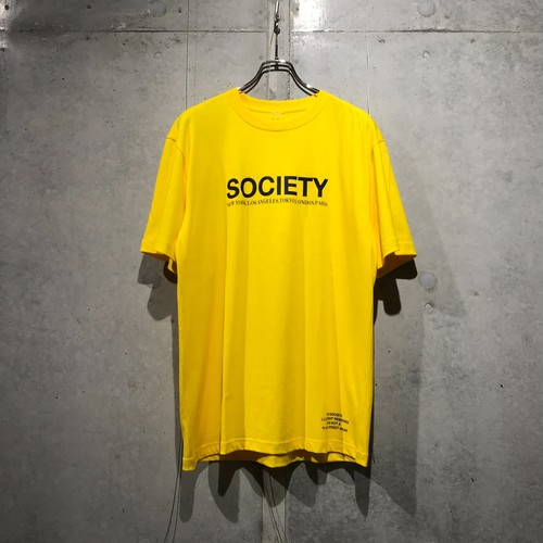 THE SOCIETY LOGO T-SHIRT / YELLOW