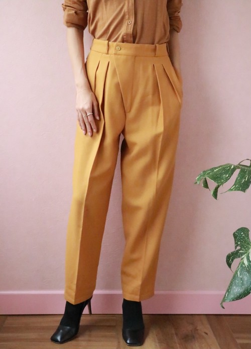 Philippe Salvet vtg mustard yellow pants