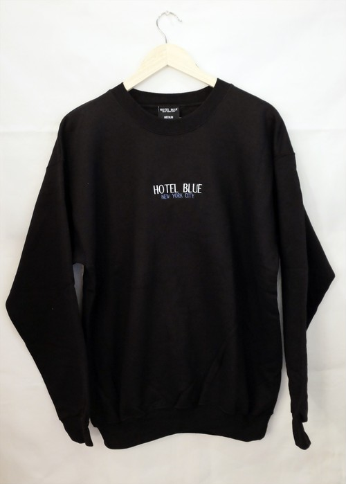 HOTEL BLUE NYC CREWNECK SWEAT BLACK M ホテルブルー NYC スウェット