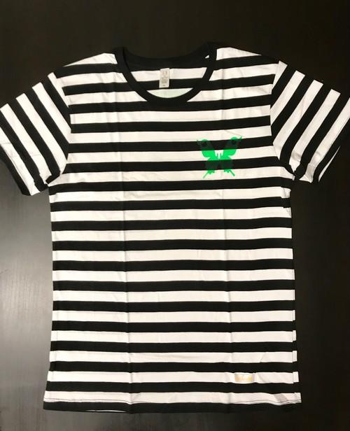 170628ボーダーTシャツ(ブラック×ホワイトXL)
