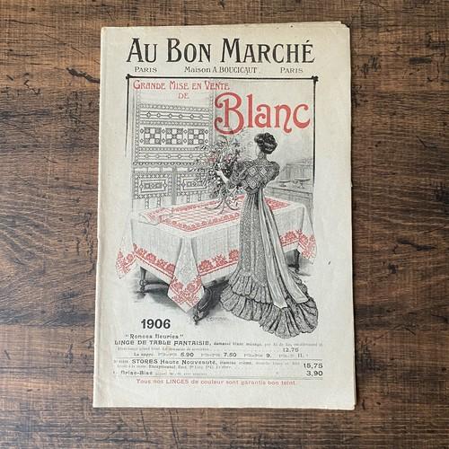パリの百貨店 Au Bon Marché カタログ・フランスアンティーク / vp0229