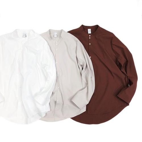 NO CONTROL AIR 【ノーコントロールエアー】 Matt polyester typewriter Mao collar shirt