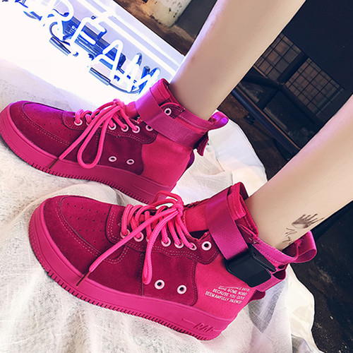 【sneakers】2018 new Korean style student breathable hip hop high-cut sneakers