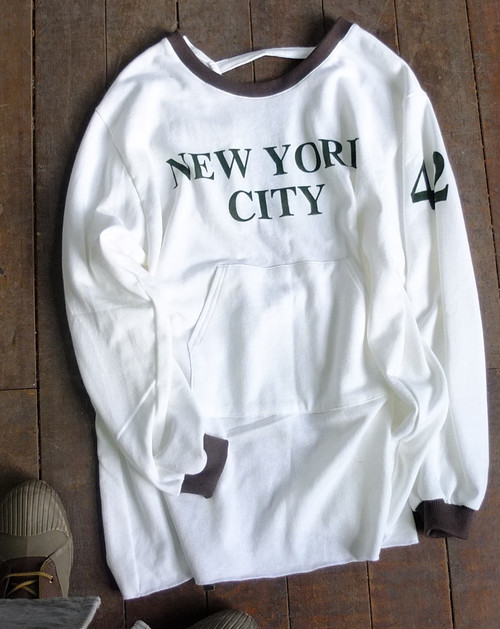 Yankees Sweat coverall Apron[White]