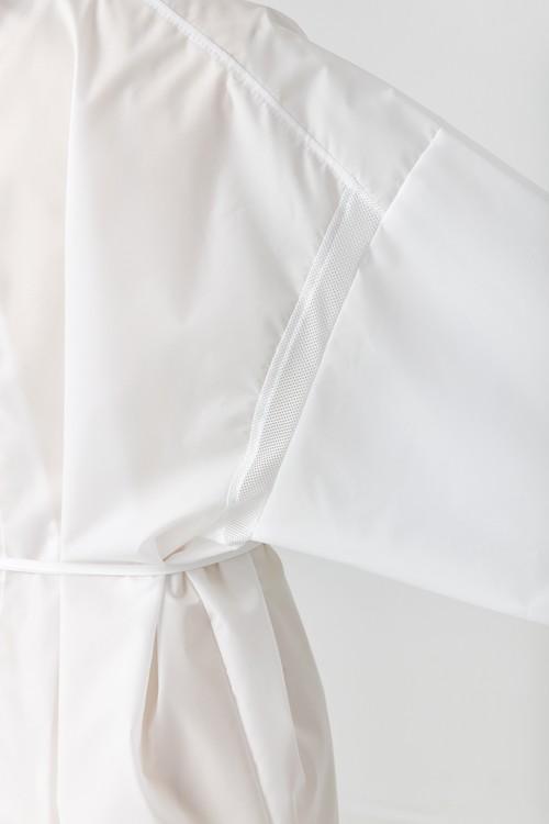 【10着セット】メッシュ付き洗えるアイソレーションガウン(ホワイト)