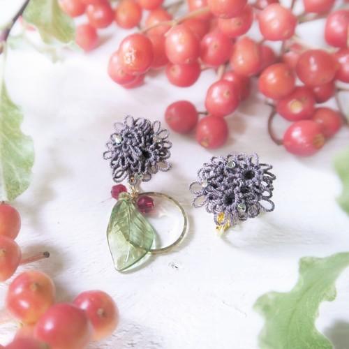 【botanical:ブラックパール】ピアスorイヤリング