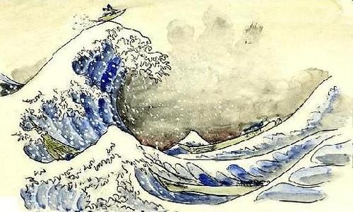 サーフィン富士 ポストカード