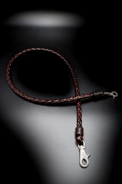 Item No.0361 :Wallet Rope/L/Hand dye/Antique italian finish