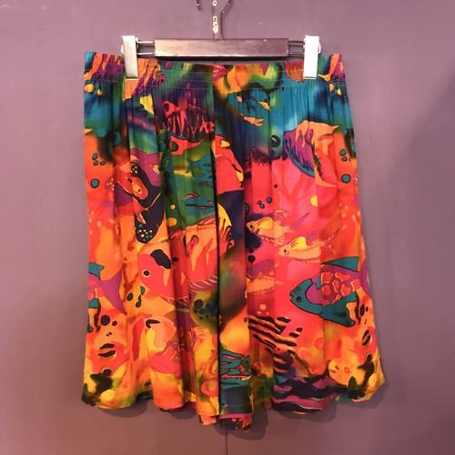 80'S colorful fish pattern shortpants[B2598]
