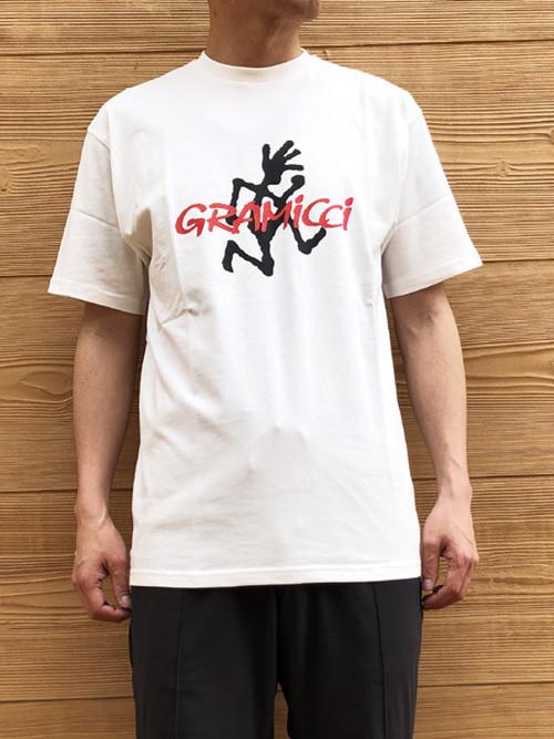 GRAMICCI (グラミチ) ランニングマン ロゴプリント Tシャツ ホワイト GUT-19S086