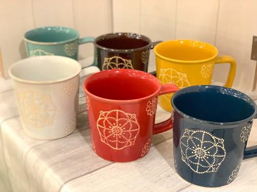 【波佐見焼】【藍染窯】【ステッチ】【マグカップ】 波佐見焼 マグカップ