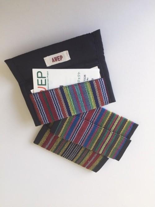 手織布カードケース