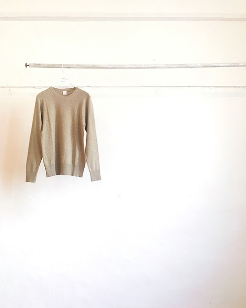 【gicipi】crew neck knit