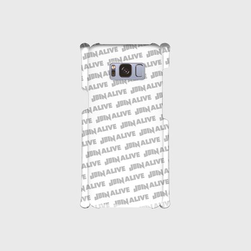 (通販限定)【送料無料】Galaxy S8(SC-02J/SCV36)_スマホケース ストライプ_ホワイト