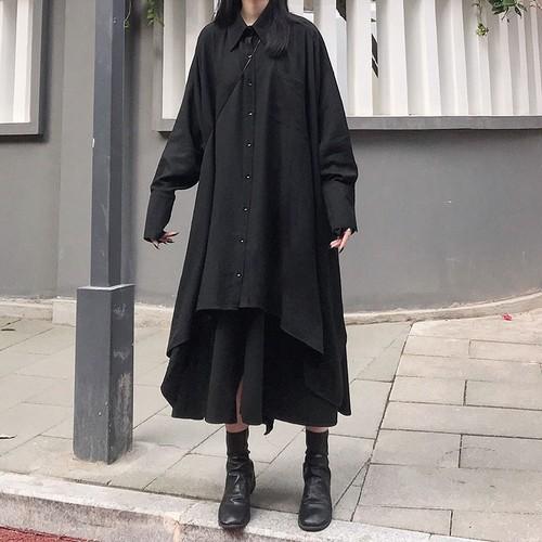 ゴスロリ ロングスカート フレアスカート ゆったりめ 病みかわいい オルチャン 原宿系 10代 20代