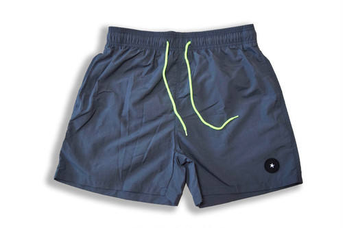 【Board shorts】/gray×neon yellow