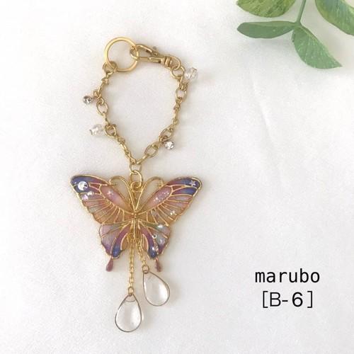 蝶々×バッグチャーム(紫)