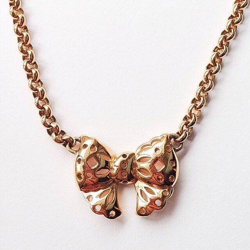 """NINA RICCI"" bow necklace[n-99]"