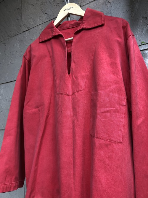 Old fisherman smock red color