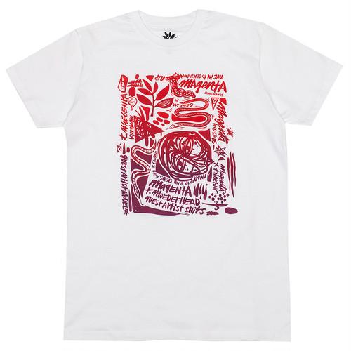 MAGENTA THOMAS CAMPBELL TEE M WHITE マゼンタ Tシャツ