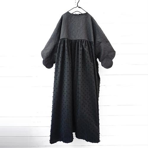 DOUBLE CIRCLE GATHER DRESS -BEAR MT/BONBON CUT JQ / LL