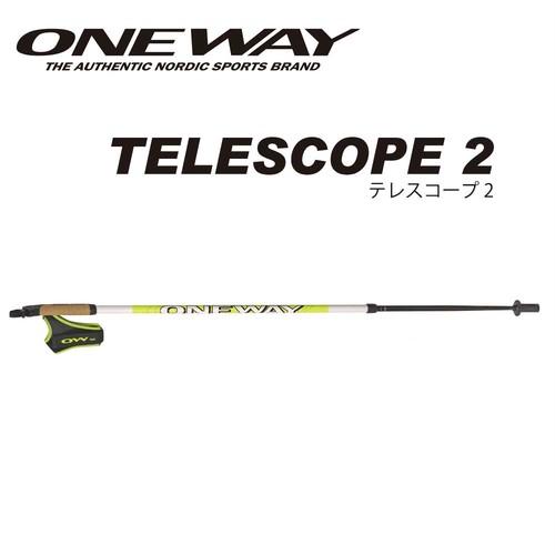 ONE WAY ワンウェイ ノルディックウォーク TELESCOPE 2 2段式カーボンシャフト ow1021