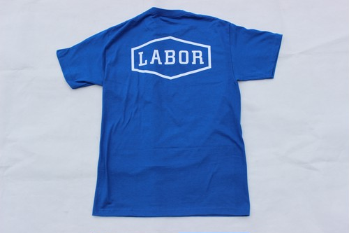 LABOR CREST LOGO S/S TEE ROYAL BLUE