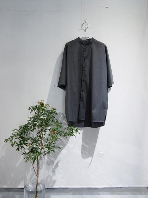 neverlamp stand collar shirt grey【nl-20SS-S03】