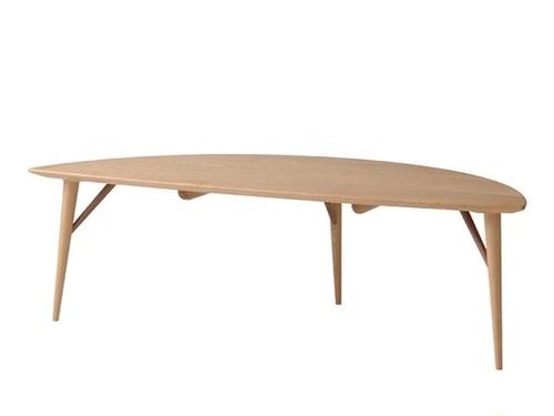 White Wood リーフリビングテーブル