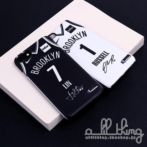 「NBA」ブルックリン ネッツ 2017-18シーズン 新ユニフォーム ジェレミーリン サイン入り iPhoneX iPhone8 ケース