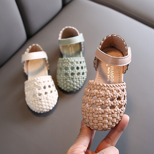 7840子供靴 キッズ ジュニア サンダル パンプス シューズ  女の子 女児 子ども サンダル 夏シューズ ぺたんこ ベビーシューズ13.5cm-18cm