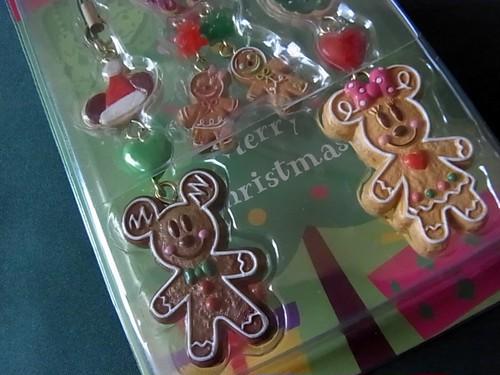 ディズニー クッキー型ミッキー&ミニー クリスマス ペアストラップ