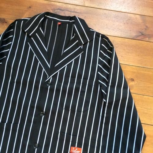 """COOKMAN(クックマン) Lab Jacket ジャケット """"PIN STRIPE"""" ブラック"""