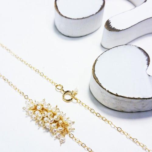送料無料14kgf*volume pearl necklace