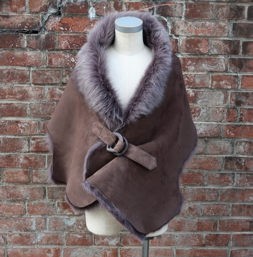 TheDelight MOUTON FUR STOLE ムートン ファー ストール ブラウン