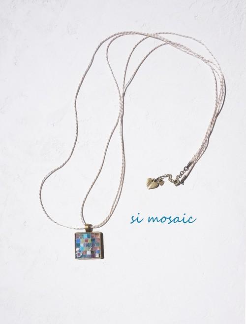 Pendant of glass mosaic / milky pastel (ガラスモザイク・ペンダント/ミルキーパステル)
