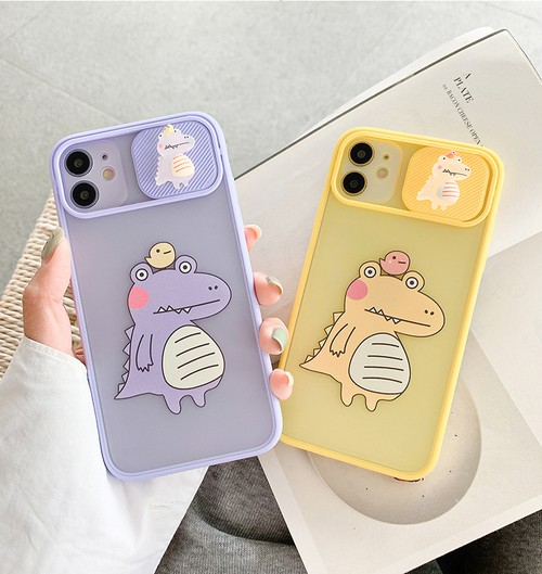Dinosaur lens protection iphone case